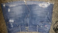 blue denim distressed short shorts Chillicothe, 45601