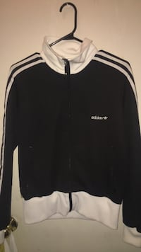 black and white Adidas zip-up jacket Winnipeg, R2X 0B9