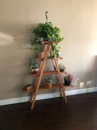 Handcrafted Step Ladder Planter.