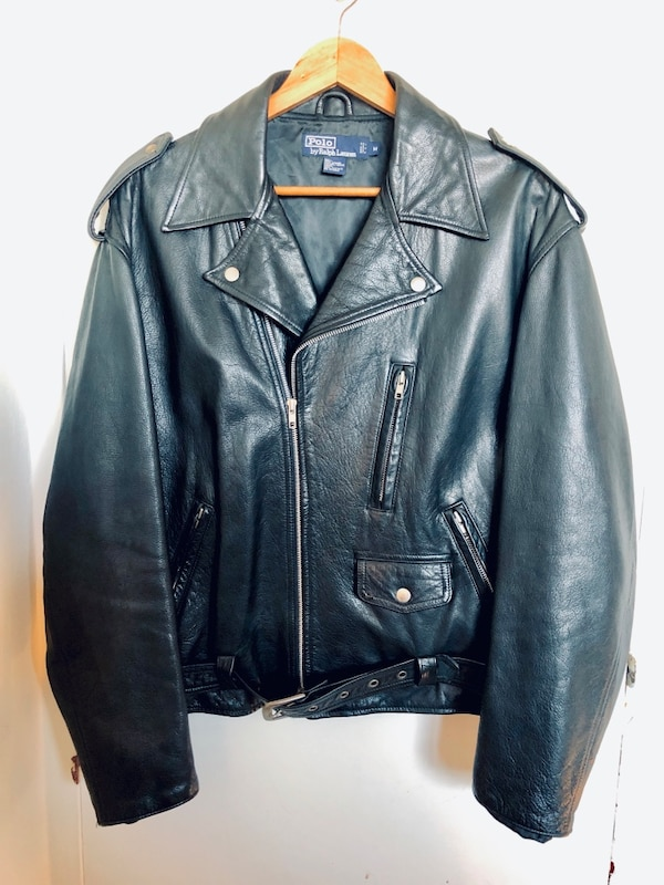 6c46c8c643e4 Used Polo Ralph Lauren Leather Moto Jacket (M) for sale in Passaic ...
