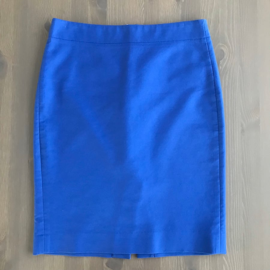 J. Crew Blue No. 2 Pencil Skirt, 2