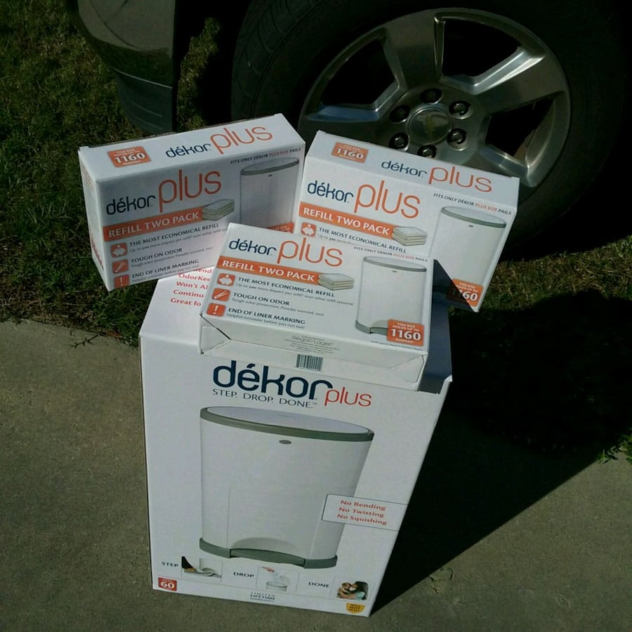 BRAND NEW DIAPER PAIL & 3 BOXES OF BAGS