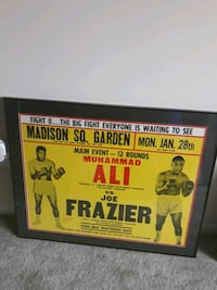 Ali vs Frazier event frames poster from 1960s Woodbridge, 22191