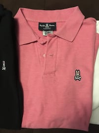 3 psycho bunny polo shirts sz 7 ( Large) like new  WHITBY
