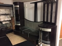 black and white wooden tv hutch New York, 11367