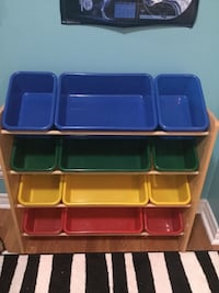 black and red plastic toy organizer Oakville, L6K 1W7