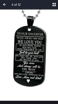 NEW Daughter Love Mom Dad necklace