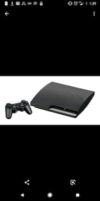 black Sony PS3 slim console with controller screenshot Lloydminster, S9V 0S4
