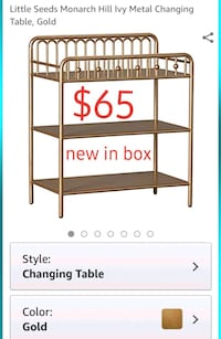 Changing Table, cart, shelves, New in box