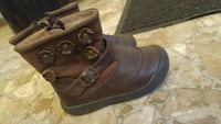pair of brown leather single-buckled boots Saint John, E2M 3S8