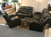 3pcs Sofa,Loveseat and chair•5 Recliners