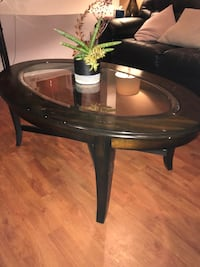 Coffee Table - Wood & Glass