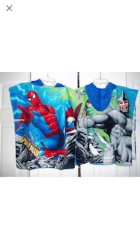 Spider-Man Hooded Terry Velour Poncho Towel