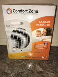 White and black comfort zone space heater box Detroit, 48219