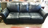 F031 - Black Leather Sofa -$295.00 Santa Clara, 95054