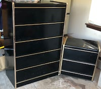 Chest and nightstand set $150 Midwest City, 73110