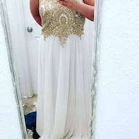 Ivory and gold prom dress Sulphur, 70663