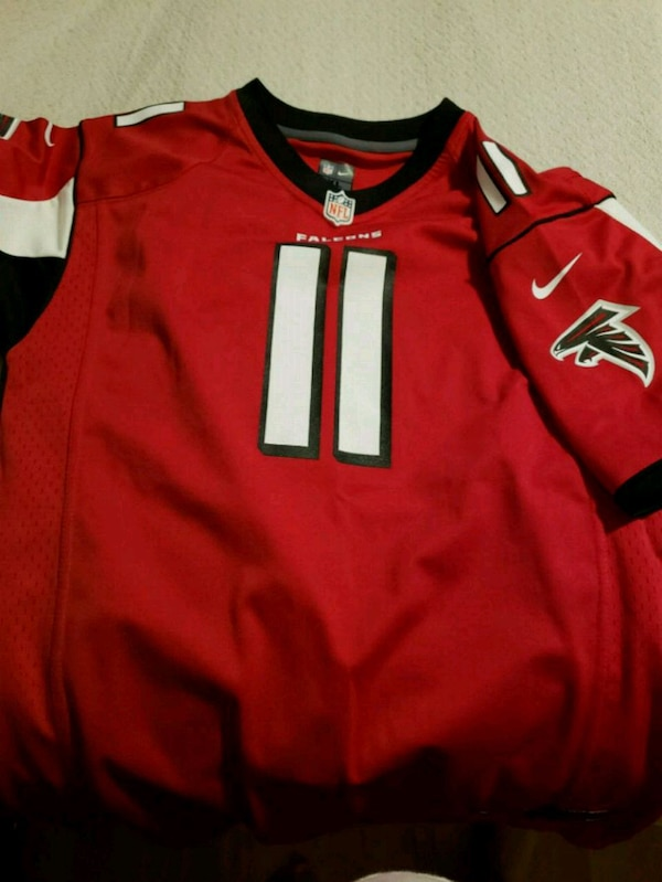 newest collection d18eb 75d66 red and black Nike jersey shirt