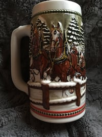 Budweiser Clydesdale Christmas holiday stein mug brand new Coopersburg, 18036