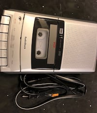Cassette tape recorder with built-in microphone and tape counter. It's a Classic. Works perfect on AC or DC. Like new Clean condition.