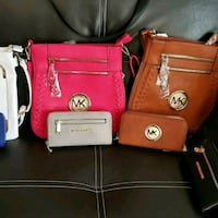 pink and brown MK leather sling bags Mount Olive, 28365