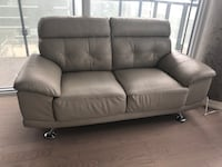 gray leather 3-seat sofa Toronto, M5V 2G7