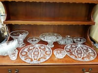 ANCHOR HOCKING GLASS STAR OF DAVID DESSERT TABLE Mississauga
