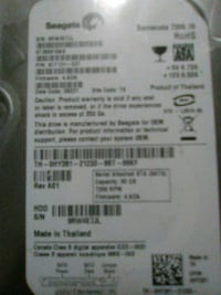 80 GB SATA Internal hard drive 2286 mi
