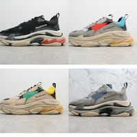 Shoes Sneakers Balenciaga Triple S Black Red New MILANO