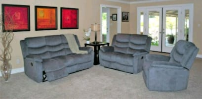 3 pc reclining sofa love and chair