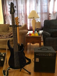 5 String Bass Guitar, Bass Amp, Korg Wave Drum, Guitar, Guitar Amp, Straps, and Stand Naperville, 60540