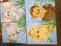 Animal painting canvases