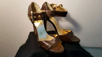 Brown Ankle Strap Heels