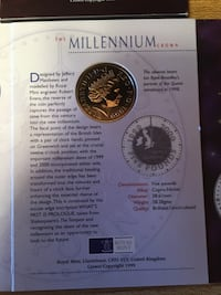 Coin Five Pounds Millennium 1999 2000
