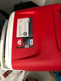 Red and white coleman portable gas grill Santee, 92071
