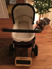 Uppa baby stroller with skateboard for sibling