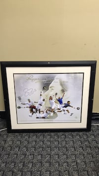 ROGER FEDERER SIGNED GRAND SLAM VICTORIES 16x20 COLLAGE FRAMED 46/70 - STEINER COA Levittown, 11756