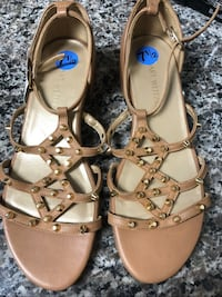 pair of brown leather open toe ankle strap sandals Old Bridge, 08857