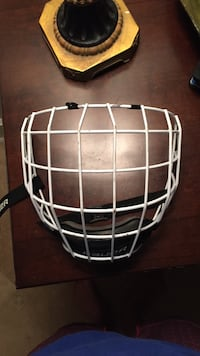 White medium Bauer profile 2 hockey cage