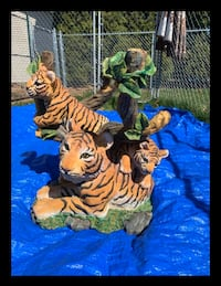 Tiger End Tables or Bed Tables (2)