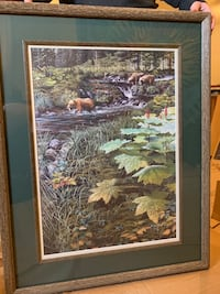 Ed Tussey red salmon #3 framed Anchorage, 99518