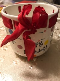 Big Happy Birthday cup with red bow Toronto, M5G 0A4