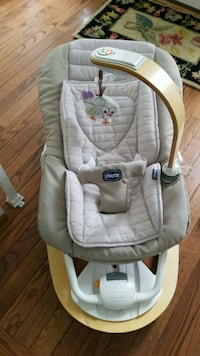baby's gray and white Chicco bouncer Annandale, 22003