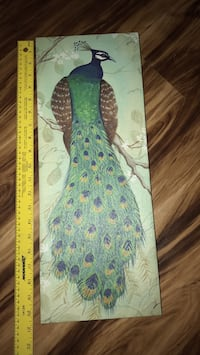 In very good condition peacock on canvas Lady Lake, 32159