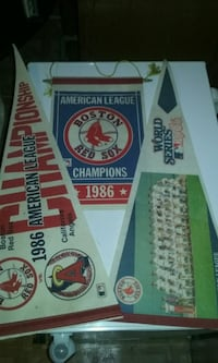 1986, Red Sox pennants and banner