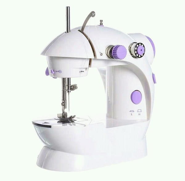 white and purple electric appliance