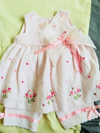 white and pink floral sleeveless dress Los Ángeles, 90710