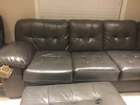 Leather Sectional Sofa with armoire Toronto, M3C 4C1