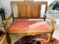 French solid wood sofa/ no negotiation/ no delivery Toronto, M3A 2G4