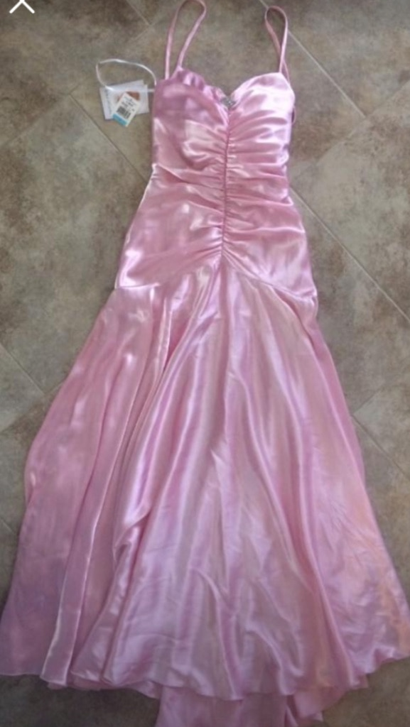 Photo New Jessica McClintock Powder Pink Gown sz 5 w/ Rhinestone orig $340